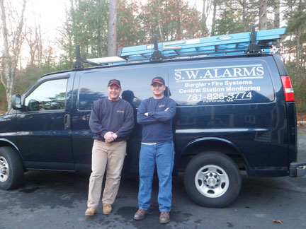 S.W. Alarms installation specialists